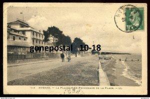 dc1767 - FRANCE Hyeres 1910s Promenade de la Plage