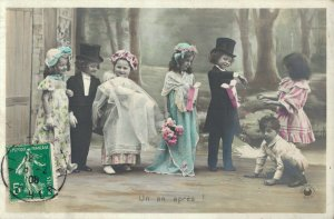 Victorian Style Kids Beautiful Dressed Fantasy Postcard Lot of 8    01.18