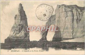 Old Postcard Etretat The Needle and the Porte d'Aval