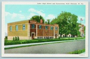 Point Pleasant West Virginia~Junior High School Building~Gymnasium~1940s Linen
