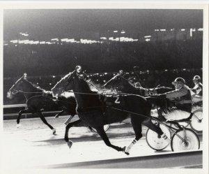 MEADOWLANDS Harness Horse Race , SOME FORCE winner, 1976