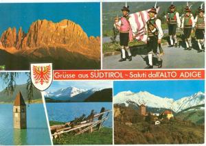 Italy, Grusse aus Sudtirol, Saluti dall'Alto Adige, 1982 used Postcard