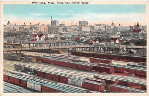 Canada Man. Winnipeg from the North West, Locomotives Trains Railway