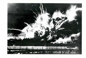 HI - Pearl Harbor. December 7, 1941. Explosion of USS Shaw   *RPPC  (Photo, n...