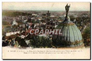 Postcard Old Tours Dome of the Basilica of St. Martin and General view toward...