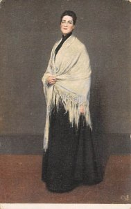 William M Chase, Lady with the White Shawl Art Artist Unused