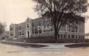 Minnesota Mn Real Photo RPPC Postcard 1931 FAIRMONT Central School Building
