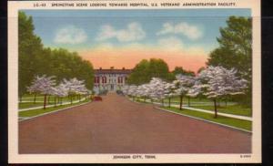 Tennessee colour PC Springtime Scene V.A. Hospital Johnson City, unused