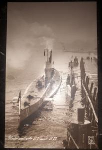Mint WW 1 Imperial German Navy U1 & U12 Boat Submarine RPPC Postcard