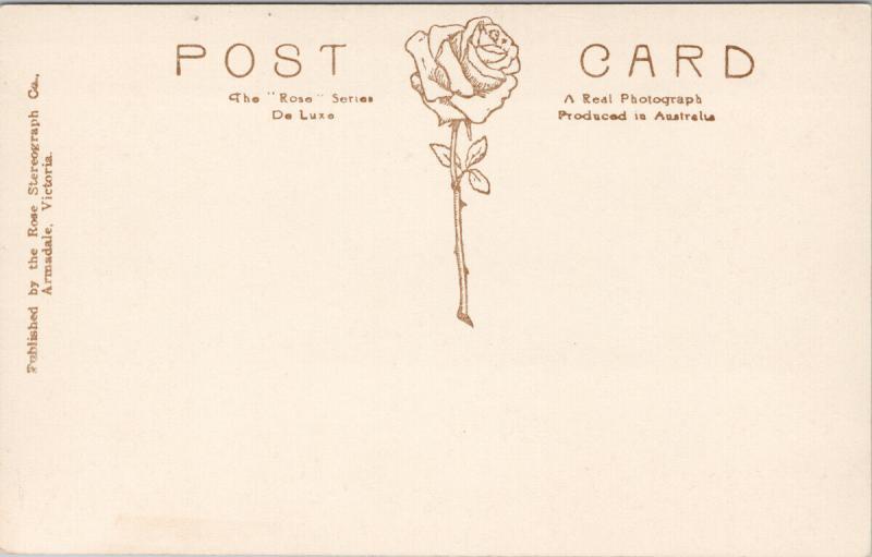Melbourne Australia Princes Bridge & Yarra Rose Series Real Photo Postcard E62