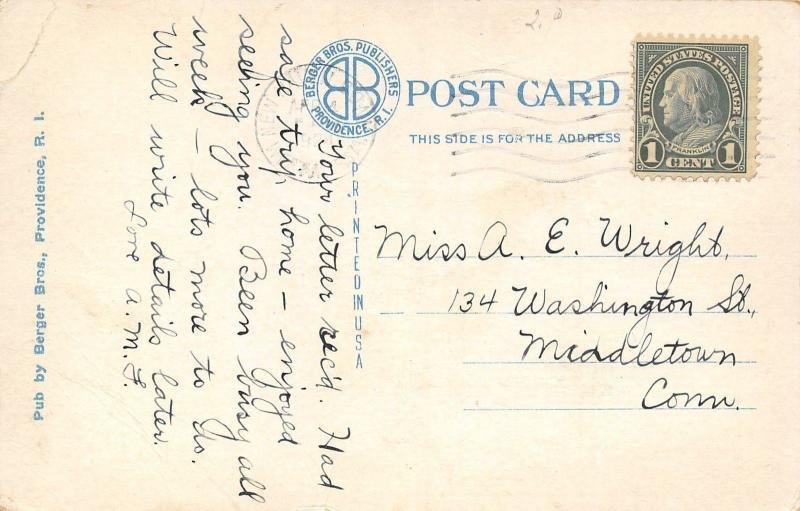 Providence Rhode Island~Post Office~1920 Postcard