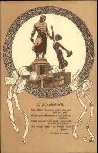 E. Jokenstro  Biseger - Propaganda German or Austrian 1911 ART DECO Postcard