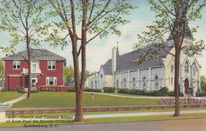 SPARTANBURG, South Carolina, 30-40s; Church & Convent School, St.Paul the Apostl