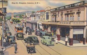 KINGSTON, Jamaica, 1930-1940's; King Street. The Jamaica Times Ltd Stationers