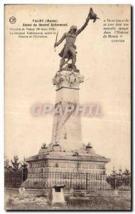 Old Postcard Valmy Kellermann General Statue