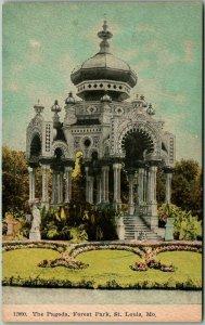Vintage St. Louis, Missouri Postcard The Pagoda, Forest Park c1910s Unused