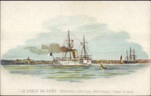 Portugal Navy Naval Ship Le Vasco da Gama c1900 UDB Postcard