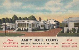 CINCINNATI , Ohio , 1930-40s ; Amity Hotel Courts