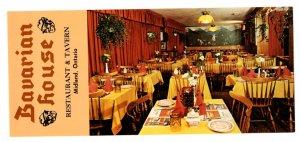 Bavarian House Restaurant Tavern, Midlland, Ontario Vintage Advertising Postcard