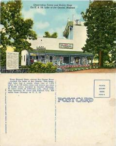 Observation Tower and Hobby Shop, U.S. 54, Lake of the Ozarks, Missouri, D/B