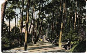 Post Card Dorset BOURNEMOUTH Invalids' Walk B.B. London Excelsior Series 1927