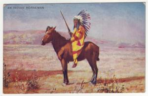 P453 JLs appears 1919 valentines an indian horseman