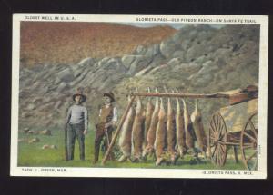 GLORIETA PASS NEW MEXICO OLD PIGEON RANCH SANTA FE TRAIL HUNTING POSTCARD