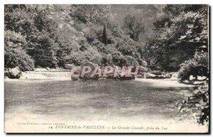 Old Postcard Fontaine De Vaucluse La Grande Cascade Taken From Lake