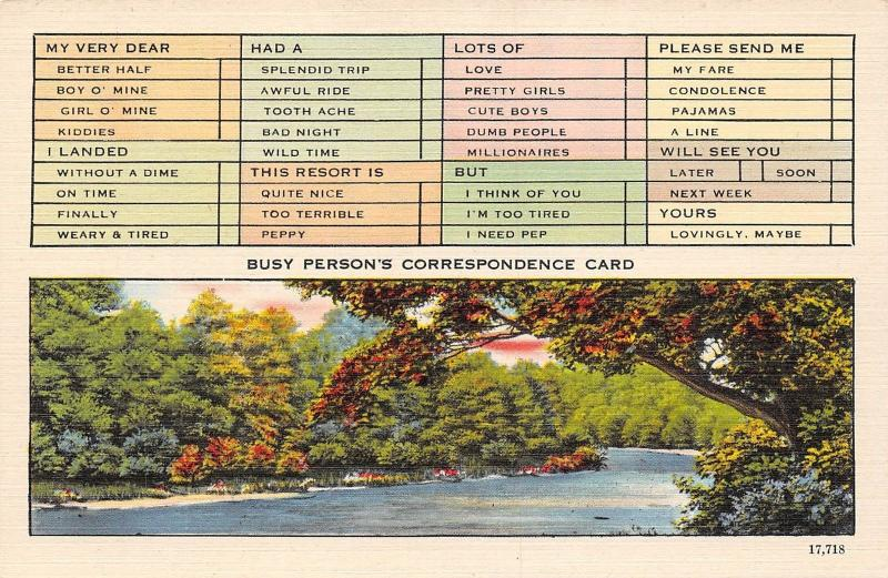 USA N.C. Asheville Busy Person's Correspondence Card