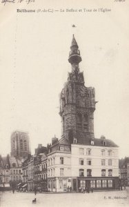 BETHUNE, France, 1910-1920s, Le Beffroi et Tour de l'Eglise