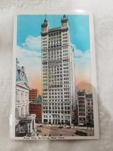 Antique Postcard, Park Row Building, New York