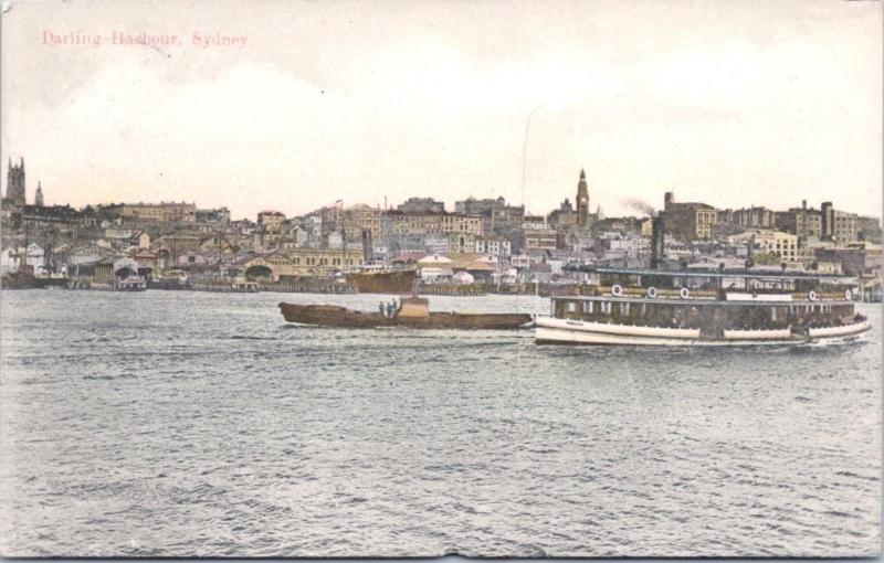 Darling Harbour Sydney Australia AU Ferry Alpha Series Vintage Postcard E15