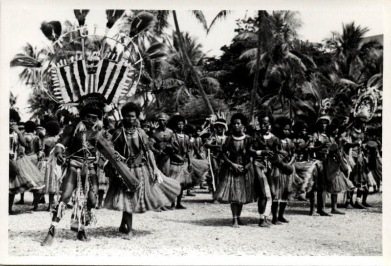 Papua New Guinea, Real Photo Native Papuas, Native Dance (1930s) RP (16)