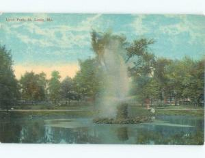 Unused Divided-Back PARK SCENE St. Louis Missouri MO c8241