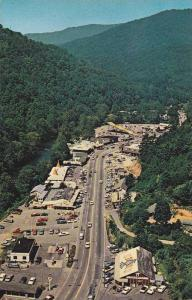 Aerial view of U.S. 441.,  Cherokee,  North Carolina,  40-60s