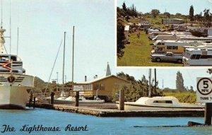 THE LIGHTHOUSE RESORT Mokelumne River, Isleton, CA RVs c1970s Vintage Postcard