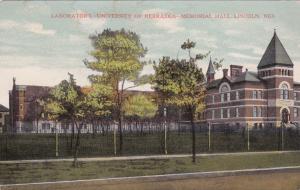 LINCOLN , Nebraska , 1919 ; Lab Bldg at University of Nebraska