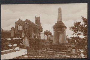 Northumberland Postcard - St Albans Church and Hartley Memorial, Earsdon  DC199