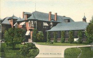 Northern Pacific railroad Hospital Missoula Montana #8 Postcard 9869