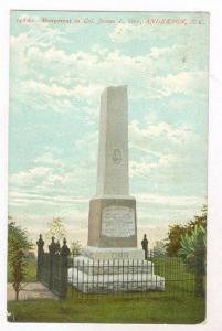 Monument to Col. James L Orr, Anderson South Carolina, 00-10s