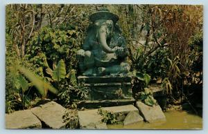 Postcard CA Anaheim Disneyland Jungle Cruise Elephant Pool Ganesha Statue B4 Q13