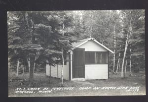 RPPC MARCELL MINNESOTA NORTH STAR LAKE PINECREST CABIN REAL PHOTO POSTCARD
