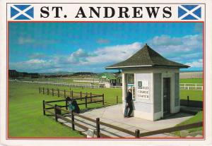 Post Card Scotland Fife St. ANDREWS The Old Course The Starter's Box