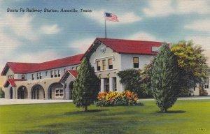 Texas Amarillo Santa Fe Railway Station 1947 sk3249