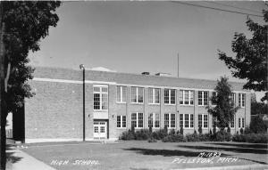 Pellston Michigan~High School Building~Emmet County~1950s RPPC-Postcard