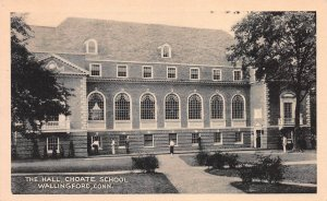 The Hall, Choate School, Wallingford, Connecticut, Early Postcard, Unused