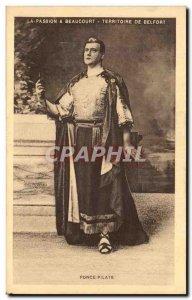 Old Postcard Passion A Beaucourt Territoire De Belfort Pontius Pilate