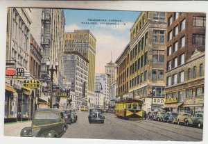 P2139, 1944 postcard busy st. view oakland calif soldier mail to riverhead ny