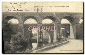 Old Postcard Guingamp The Two Viaducts St. Croix
