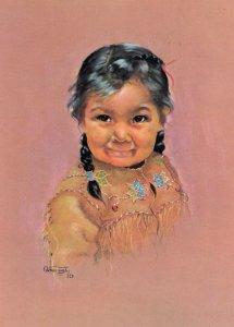 Canadian Indian Child , Artist Dorothy Oxborough , 1972 , #1
